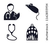 set of 4 vector icons such as... | Shutterstock .eps vector #1162855954