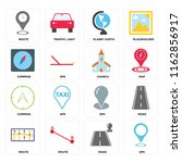 set of 16 icons such as gps ...