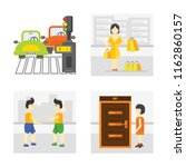 set of 4 vector icons such as... | Shutterstock .eps vector #1162860157