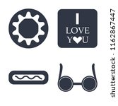 set of 4 vector icons such as... | Shutterstock .eps vector #1162867447