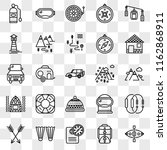 set of 25 transparent icons...   Shutterstock .eps vector #1162868911