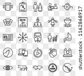 set of 25 transparent icons... | Shutterstock .eps vector #1162868917