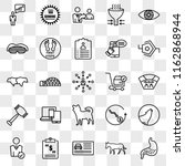 set of 25 transparent icons... | Shutterstock .eps vector #1162868944