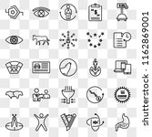 set of 25 transparent icons... | Shutterstock .eps vector #1162869001