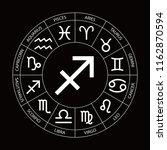 vector. graphic astrology set... | Shutterstock .eps vector #1162870594