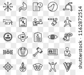 set of 25 transparent icons... | Shutterstock .eps vector #1162872514