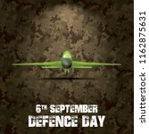6th september. happy defence... | Shutterstock .eps vector #1162875631