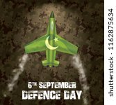 6th september. happy defence... | Shutterstock .eps vector #1162875634