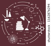 scientific  education elements. ... | Shutterstock .eps vector #1162876294