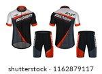 cycling jerseys mockup t shirt... | Shutterstock .eps vector #1162879117