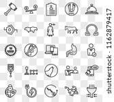 set of 25 transparent icons... | Shutterstock .eps vector #1162879417
