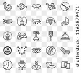 set of 25 transparent icons... | Shutterstock .eps vector #1162879471