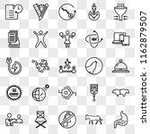 set of 25 transparent icons... | Shutterstock .eps vector #1162879507