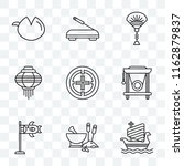 set of 9 transparent icons such ... | Shutterstock .eps vector #1162879837