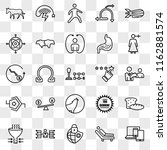 set of 25 transparent icons... | Shutterstock .eps vector #1162881574