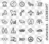 set of 25 transparent icons... | Shutterstock .eps vector #1162881697