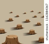 broken trees background | Shutterstock .eps vector #1162884367