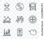 set of 9 transparent icons such ... | Shutterstock .eps vector #1162886191