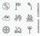 set of 9 transparent icons such ... | Shutterstock .eps vector #1162886224
