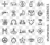 set of 25 transparent icons... | Shutterstock .eps vector #1162886311