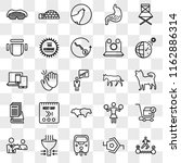 set of 25 transparent icons... | Shutterstock .eps vector #1162886314