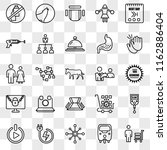set of 25 transparent icons... | Shutterstock .eps vector #1162886404