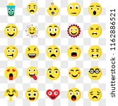 set of 25 transparent icons... | Shutterstock .eps vector #1162886521