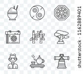 set of 9 transparent icons such ... | Shutterstock .eps vector #1162889401