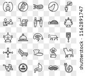 set of 25 transparent icons... | Shutterstock .eps vector #1162891747