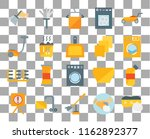 set of 20 transparent icons... | Shutterstock .eps vector #1162892377