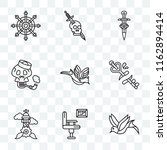 set of 9 transparent icons such ... | Shutterstock .eps vector #1162894414