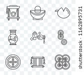 set of 9 transparent icons such ... | Shutterstock .eps vector #1162895731