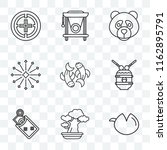 set of 9 transparent icons such ... | Shutterstock .eps vector #1162895791