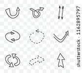 set of 9 transparent icons such ...
