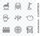set of 9 transparent icons such ... | Shutterstock .eps vector #1162895824
