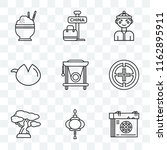 set of 9 transparent icons such ... | Shutterstock .eps vector #1162895911