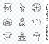 set of 9 transparent icons such ... | Shutterstock .eps vector #1162895947