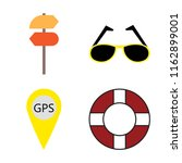 set of 4 vector icons such as... | Shutterstock .eps vector #1162899001