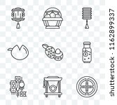 set of 9 transparent icons such ... | Shutterstock .eps vector #1162899337