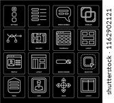 set of 16 icons such as layout  ...