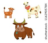 cartoon family cow  bull and... | Shutterstock .eps vector #1162905784