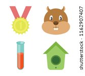 set of 4 vector icons such as... | Shutterstock .eps vector #1162907407