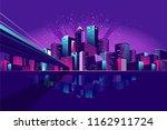 vector illustration neon... | Shutterstock .eps vector #1162911724