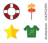 set of 4 vector icons such as... | Shutterstock .eps vector #1162912594