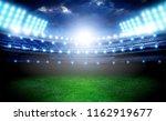 lights at night empty  stadium | Shutterstock . vector #1162919677