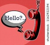 hanging phone handset with... | Shutterstock .eps vector #1162922194