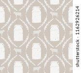 vector seamless vintage milk... | Shutterstock .eps vector #1162926214