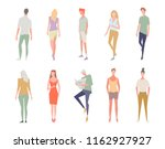 illustration of people isolated ... | Shutterstock .eps vector #1162927927