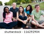 diverse group of friends... | Shutterstock . vector #116292904