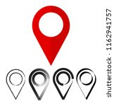 pin location isolated icon... | Shutterstock . vector #1162941757